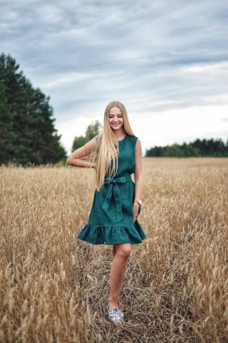 """Lininė suknelė """"Smaragdas"""""""