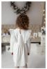 Balta suknelė mergaitėms su sparneliais